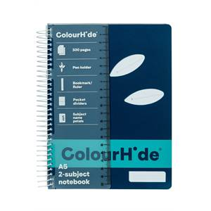 ColourHide 2-Subject Notebook A5 300 Page