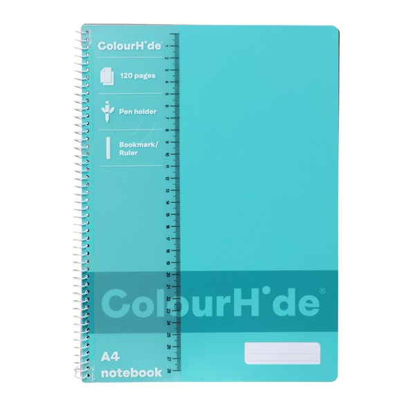 ColourHide A4 120 Page Notebooks - main image