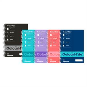 ColourHide A5 200 Page Notebooks - main image